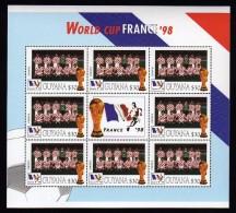 Guyana 1998 Kleinbogen/Minisheet Football/Soccer World Cop France  Mnh .Croatia - Coupe Du Monde
