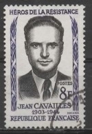 FRANCE 1958 Heroes Of The Resistance - 8f Jean Cavailles  FU - Used Stamps