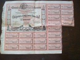 """Action """"Canal De Panama""""-coupons De 12,50f - Actions & Titres"""