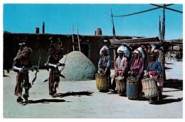 A-1130, Postcard, Ceremonial Dances Of New Mexico Indians, Buffalo Dance - Native Americans