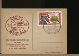 GERMANY  DDR  -  ZWICKAU   WESTSACHSENSCHAU  1966  -  SHOP -  NEGOZI   -  Perfetta - Fabbriche E Imprese