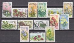 Falkland Islands 1968 Definitives / Flowers & Orchids 14v ** Mnh (27864) - Falkland Islands