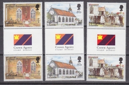 Falkland Islands 1999 St. Mary´s Church 3v Gutter ** Mnh (27867) - Falklandeilanden