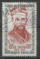 FRANCE 1960 Heroes Of The Resistance - 20c Abbe Rene Bonpain AVU - Gebraucht