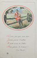 Fantaisie - CPA -  Ne Crois Pas Que Mon Coeur ... A. De Musset Couple Années 60 - Couples