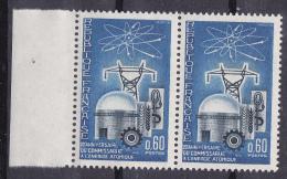 N° 1462 20ème Anniversaire Du Commissariat à L´Energie Atomique: Une Paire De 2  Timbres Neuf Impéccable - Nuevos