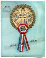 - Grosse Cocarde Conscrit Sur Carton - 1903, Diamètre 9 Cm, Avec Numéro De Tirage 46, Très Rare, A Garnier, TBE, Scans. - France