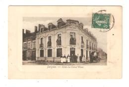 CPA 45 JARGEAU Hôtel Du Cheval Blanc Animation Attelage - Jargeau