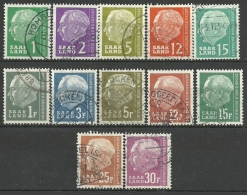Saarland, Heuss - Lot, Gestempelt - 1957-59 Federation