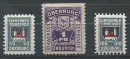 1355 - OBERBURG Fiskalmarken - Fiscaux