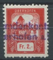 1356 - OBERHOFEN Fiskalmarke - Fiscaux