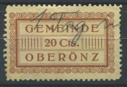 1357 - OBERÖNZ Fiskalmarke - Fiscaux