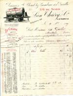 """59.NORD.CAMBRAI. """" LE CALOR """" SPECIALITE D'ALCOOL DENATURE.LEON THIERY & Cie USINES SAINT CLOUD LEZ CAMBRAI & PROVILLE. - France"""