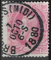 _6Wz-390: N° 34: E9: BRUXELLES(MIDI) - 1869-1883 Leopold II