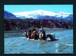 ICELAND  -  Crossing The River Krossa  Unused Postcard - Iceland