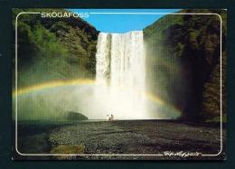 ICELAND  -  Skogafoss Waterfall  Unused Postcard - Iceland