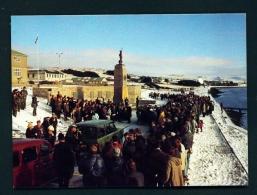 FALKLAND ISLANDS  -  Port Stanley  War Memorial  Unused Postcard - Islas Malvinas