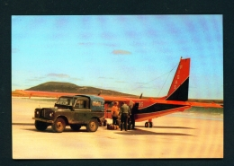 FALKLAND ISLANDS  -  Pebble Island Beach  Mail And Passenger Delivery  Unused Postcard - Falkland Islands