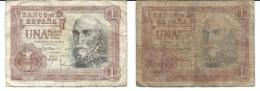 Espagne - Lot De 2 Billets De Une Peseta - 1953 - [ 3] 1936-1975 : Régence De Franco