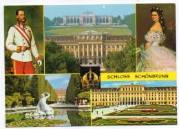 Autriche--VIENNE-2006-Chateau De Schoenbrunn-Multivues-cpm N° G 122 éd GAUKELL---timbre Au Dos - Château De Schönbrunn