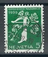 Timbre Suisse 1939 * Expo Nationale Suisse 1939 - Inscription En Italien *  Oblitéré - Suisse