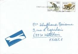 L-ANI32 - AFRIQUE DU SUD Belle Lettre Par Avion Pour La France Thème Animaux - Afrique Du Sud (1961-...)