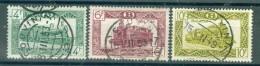 """BELGIE - OBP Nr TR 308 + 310 + 315 - Brugstempel  """"COUVIN"""" - (ref. AD-3544) - 1942-1951"""