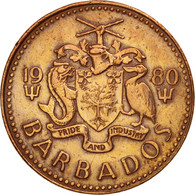 Barbados, Cent, 1980, Franklin Mint, TTB+, Bronze, KM:10 - Barbades