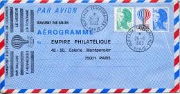 FRANCE : AÉROGRAMME : N° 1010-AER Oblitéré (Bureaux Temporaires : 26/6/1983 - Pa - Aérogrammes