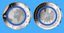Vorverkauf: Deutschland 2016 - Offizielle 5 Euro Gedenkmünze Mit Polymerring - Germany