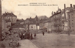 54 MEURTHE ET MOSELLE - BACCARAT Gondrecourt Et Place De La Mairie - Baccarat