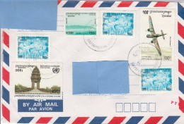 Z3] Enveloppe Cover Cambodge Cambodia Affranchissement Mixte Mixed Postage - Cambodge