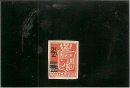 Algerie - 197c 5 Francs Rouge Orange Double Surcharge Avec  Charniére Avec Un Bon Petit Pli Vertical - Algeria (1924-1962)