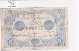 Billet De 5 Francs Bleu Du 14/11/1916 SAGITAIRE - W.14913 Alph 229 @ N° Fayette : 2.45 - 1871-1952 Anciens Francs Circulés Au XXème