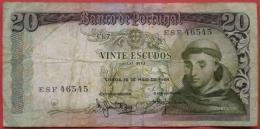20 (Vinte) Escudos 1964 (WPM 167) - Portugal