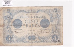 Billet De 5 Francs Bleu Du 20/12/1916 CAPRICORNE - D.15538 Alph 854 @ N° Fayette : 2.46 - 1871-1952 Anciens Francs Circulés Au XXème