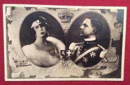UMBERTO DI SAVOIA  E MARIA JOSE' DEL BELGIO IN MEDAGLIONI CON CORONA - ED. G.B.FALCI MILANO - N.V. - Case Reali