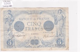 Billet De 5 Francs Bleu Du 29/01/1917 VERSEAU - T.16162 Alph 232 @ N° Fayette : 2.47 Date Plus Rare !!! - 1871-1952 Anciens Francs Circulés Au XXème
