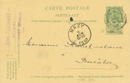 414/24 - Entier Postal Armoiries CHASTRE VILLEROUX 1907 Vers BALATRE Par MAZY - Cachet Notaire Pinchart à MELLERY - Stamped Stationery