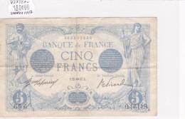 Billet De 5 Francs Bleu TTB+ Du 25/01/1917 VERSEAU - O.16118 Alph 696 @ N° Fayette : 2.47 Date Plus Rare !!! - 1871-1952 Anciens Francs Circulés Au XXème