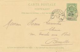 415/24 - Entier Postal Armoiries CHIMAY 1903 Vers BXL - RARE Origine Manuscrite RANCE - Stamped Stationery