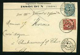 FRANCE ( MARCOPHILIE ) : BEL  AFFRANCHISSEMENT SUR  DEVANT  D ENVELOPPE , C A D  DU  21  JUIN  1904  , A    VOIR . - Marcophilie (Lettres)