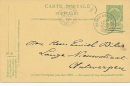 417/24 - Entier Postal Armoiries MERXPLAS (Colonie) 1909 Vers ANTWERPEN - Signé Thyssen - Stamped Stationery