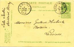 418/24 - Entier Postal Armoiries DEUX ACREN 1904 Vers LESSINES - Signé Jules Fautrès , Secrétaire Communal - Entiers Postaux
