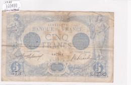 Billet De 5 Francs Bleu TB Du 10/07/1916 LION INVERSE - K.12782 Alph 573 @ N° Fayette : 2bis.4  RARE Fauté !!! - 1871-1952 Anciens Francs Circulés Au XXème