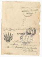 1916 - CARTE-LETTRE FM Du 3° CHASSEURS à CLERMONT-FERRAND (PUY DE DOME) - Storia Postale