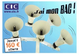 CPM FRANCE THEMES PUBLICITES - CIC - J'ai Mon Bac ! - Publicité