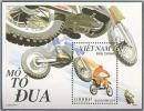 Vietnam Viet Nam MNH Perf Souvenir Sheet 1992 : Racing Motorbike / Suzuki / Honda / Kawasaki (Ms640B) - Vietnam