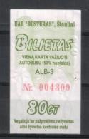Lithuania Siauliai Bus Ticket One-way Ticket - Europa