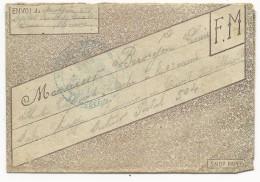 1917 - LETTRE-ENVELOPPE FM DECOREE De L'HOPITAL De BAR LE DUC (MEUSE) Pour Le SP 504 (ARMEE D'ORIENT) - Storia Postale